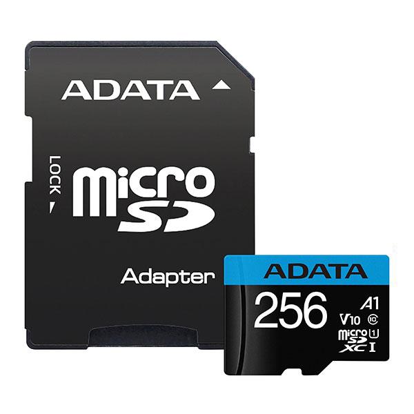 ADATA Premier Memory Card MicroSDXC 256GB Class 10 UHS-I A1