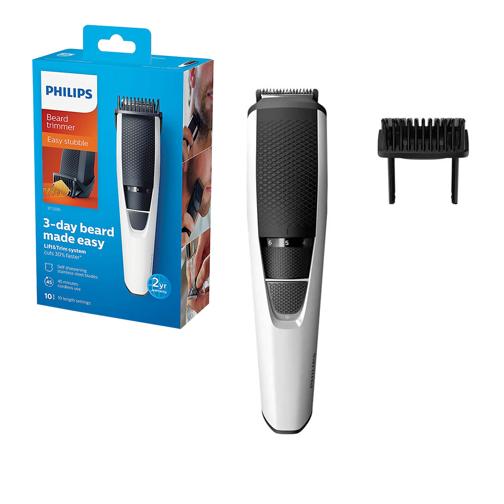 Philips Series 3000 Beard    Stubble Trimmer/Hair Clipper (0.5 mm - 10 mm) with Stainless Steel Blad