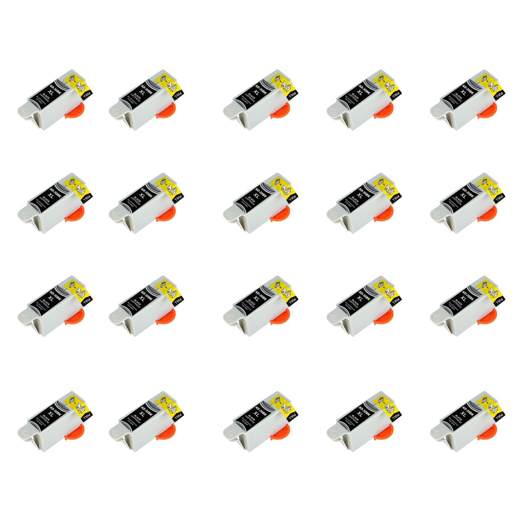 7dayshop Compatible Kodak Series 30 Black Ink Cartridge (30B  30XL)  20 Pack