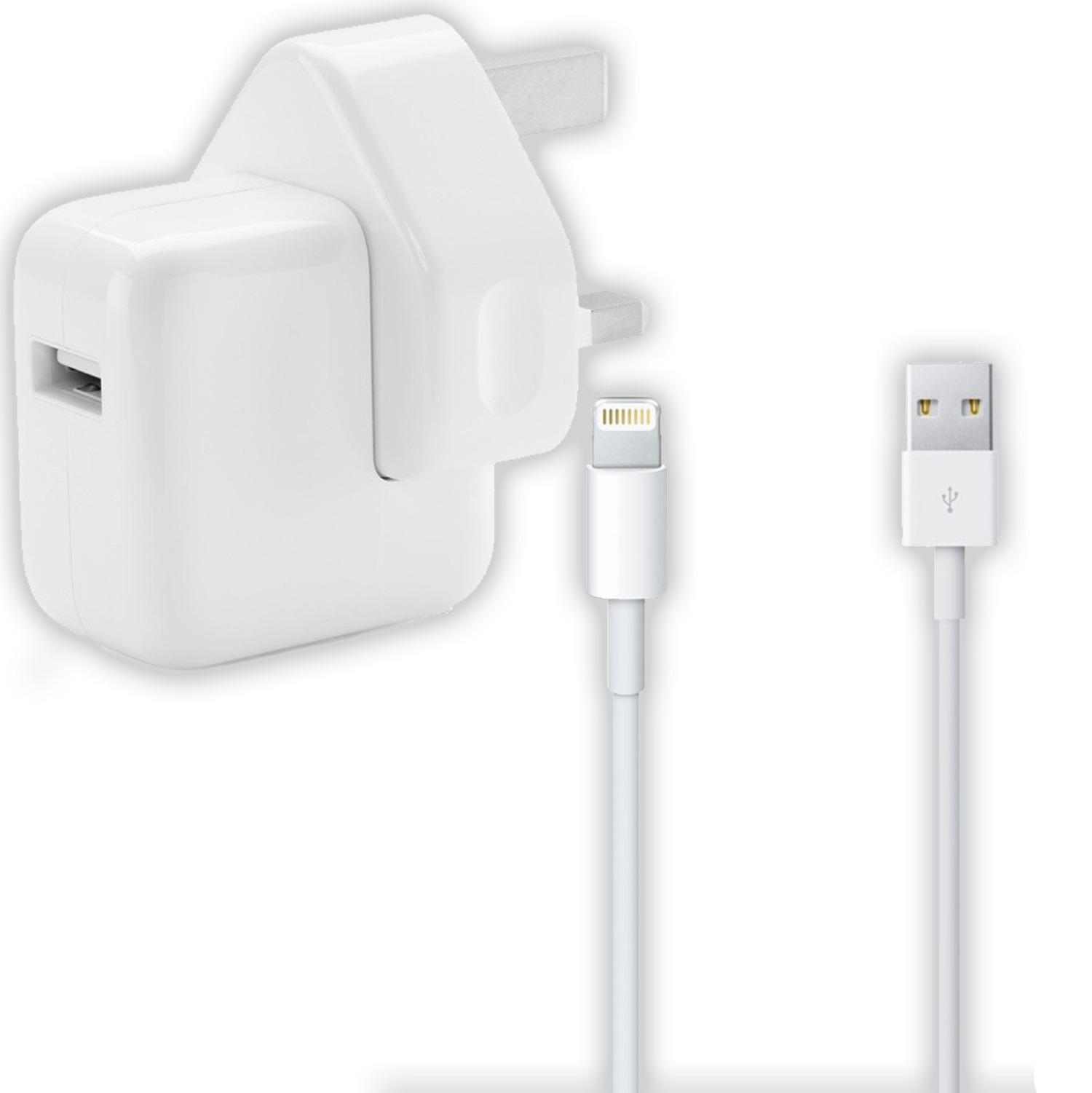 Apple 10w Mains Charger & Genuine Lightning Cable for iPhone 6 5 iPad 4 & Air