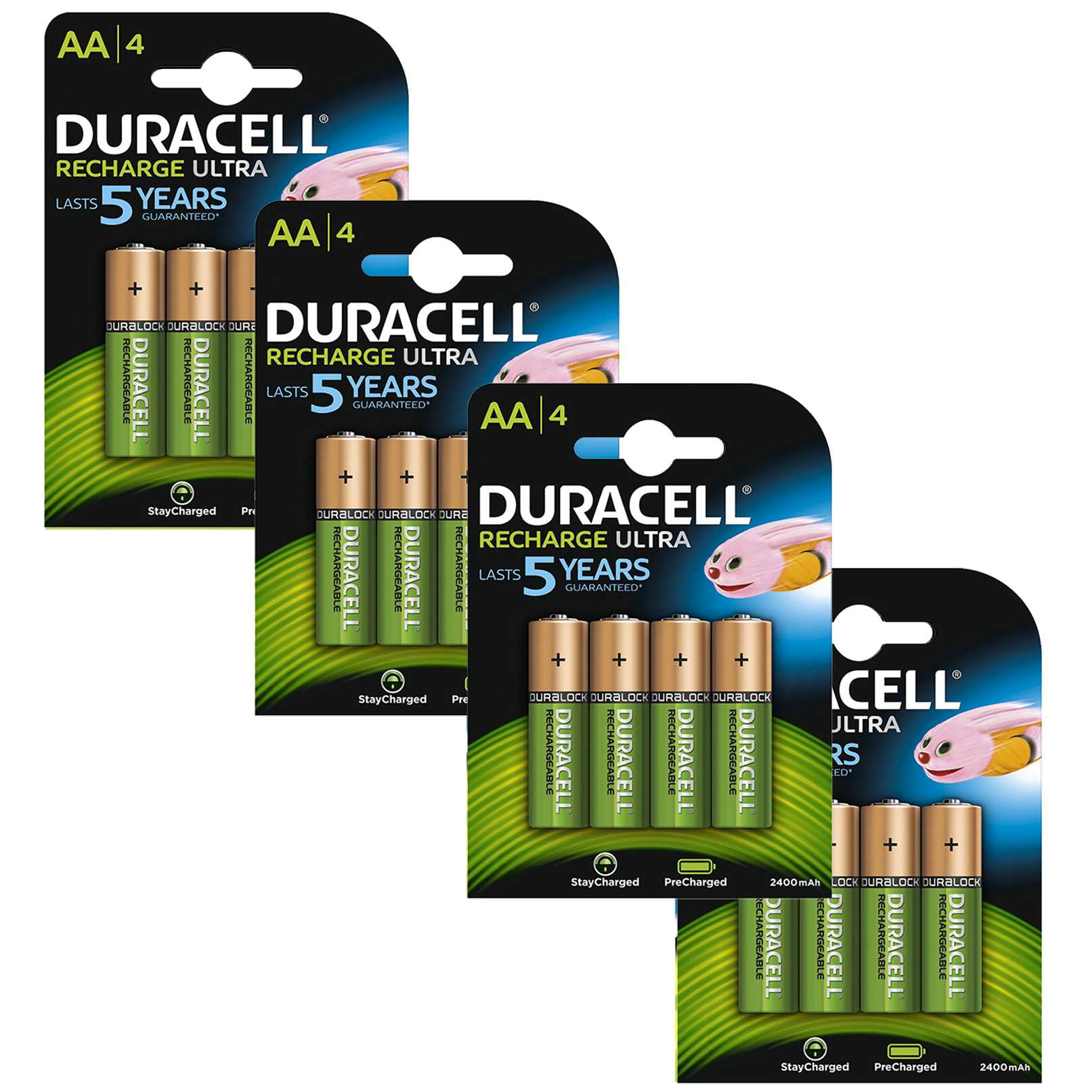 Duracell Duralock Precharged Rechargeable AA Batteries (2400mAh)  16 Pack