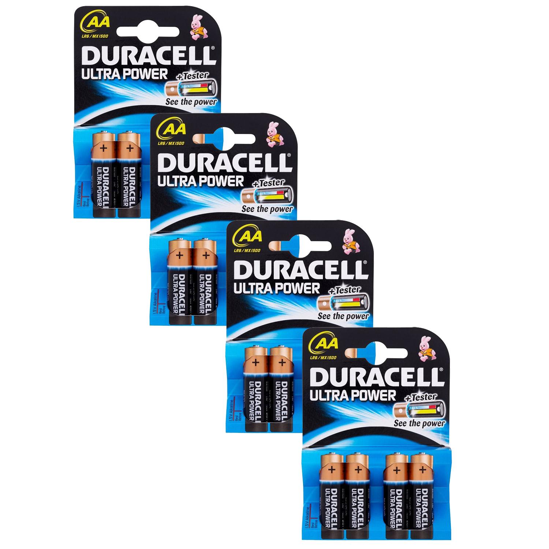 Duracell ULTRA POWER AA (LR6  MX1500) Alkaline Batteries  16 Pack