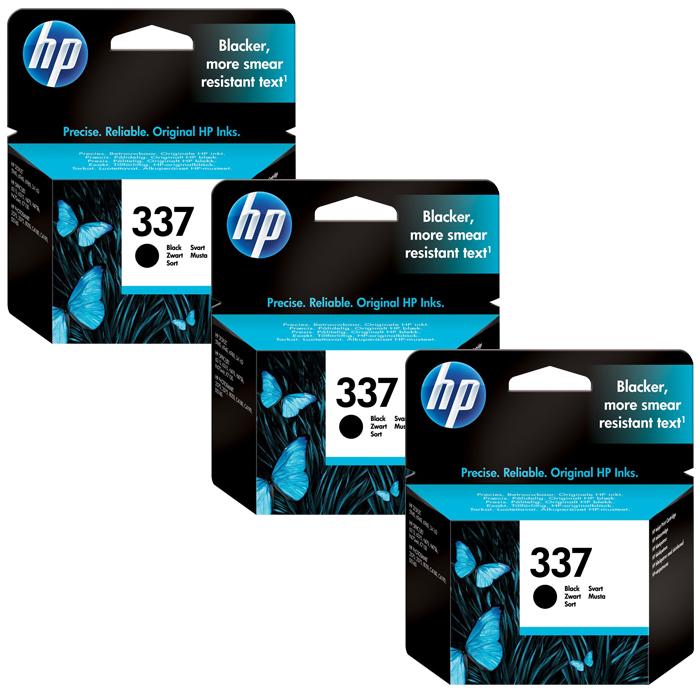 HP 337 Black Ink Cartridge (C9364EE) Value 3 Pack