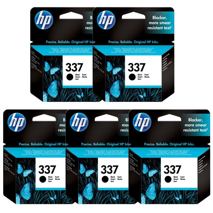 HP 337 Black Ink Cartridge (C9364EE) Value 5 Pack