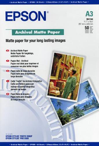 Epson Paper S041344 Archival Matte Paper 192gsm 50 Sheets A3