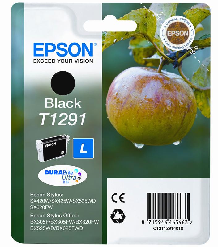 Epson Original T1291 Apple Ink Cartridge 11.2ml Black