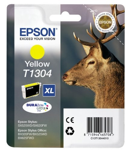 Epson Original T1304 Stag Ink Cartridge 10.1ml Yellow