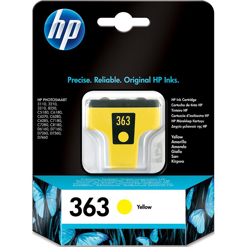 HP 363 Yellow Ink Cartridge C8773EE