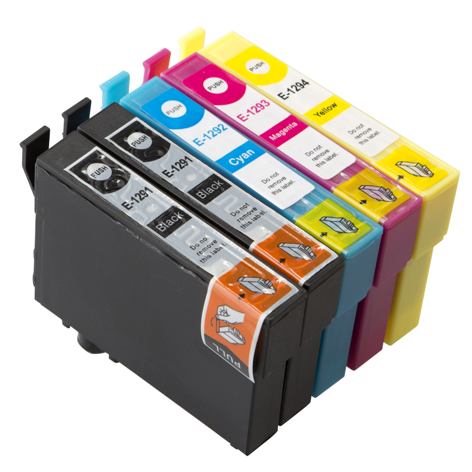 Compatible Epson T1295 Apple 69ml Extra Value 5 Cartridge Multipack