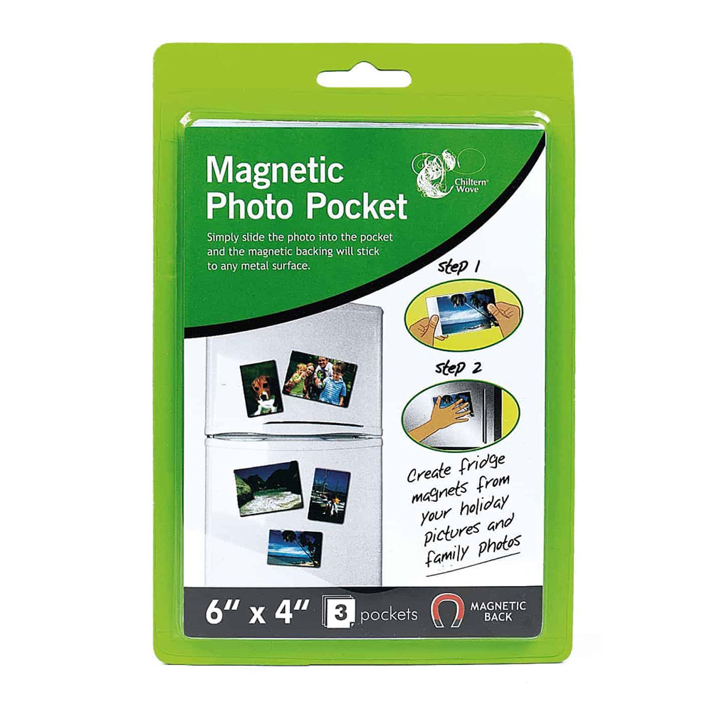Click to view product details and reviews for Chiltern Wove Magnetic Photo Pockets X3.