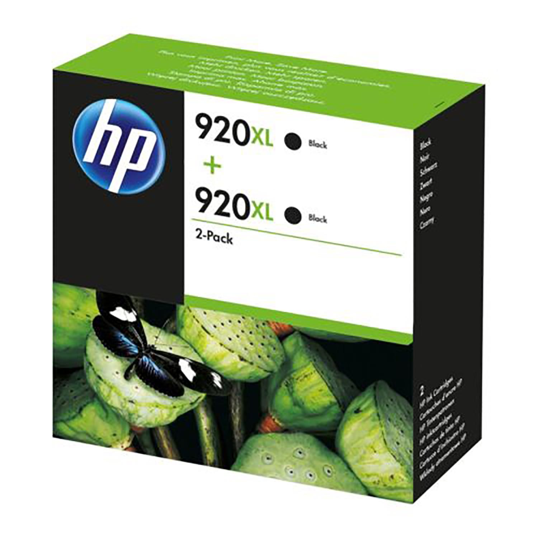 HP 920XL Black Officejet Ink Cartridge (D8J47AE) Twin Pack