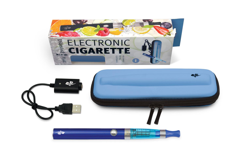 Diamond Mist  eGo ECigarette Starter Kit with Blue Pouch