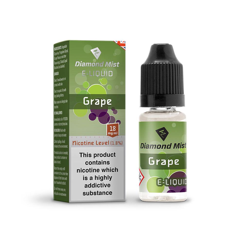 Compare prices for Diamond Mist E-Liquid Grape 10ml - 18mg Nicotine