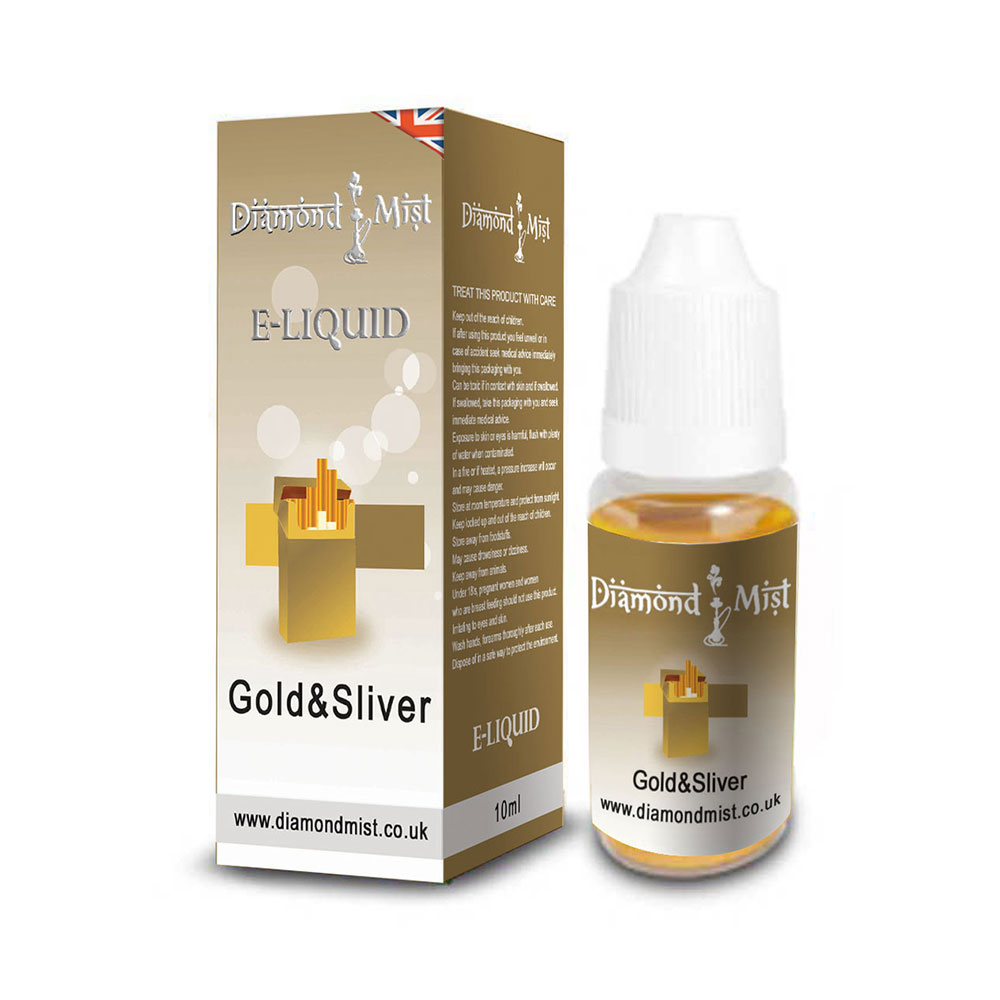 Compare prices for Diamond Mist E-Liquid Dripper Gold and Silver 10ml - 3mg Nicotine