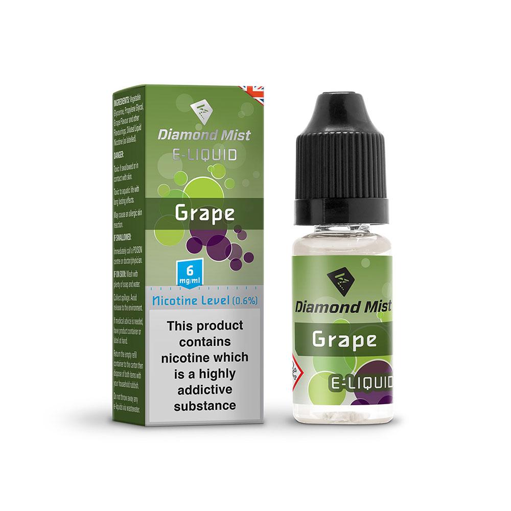 Compare prices for Diamond Mist E-Liquid Grape 10ml - 6mg Nicotine