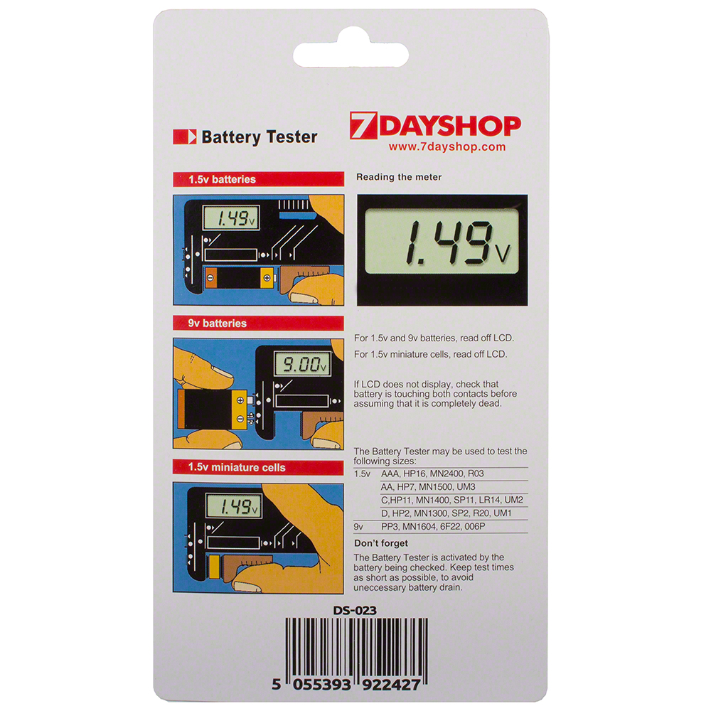 Digital Universal Battery Tester For Aa Aaa C D 9v And