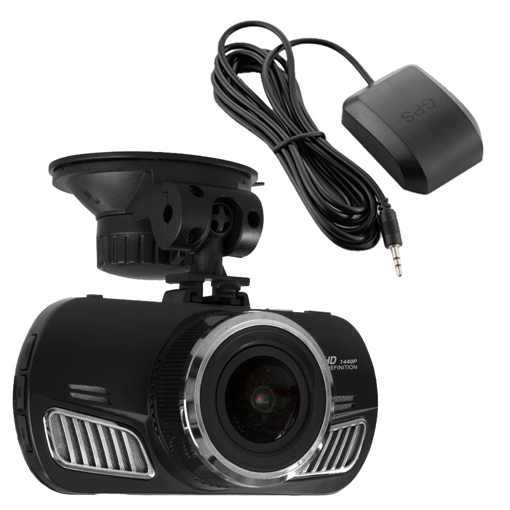 HD 1440p Vehicle / Car Dash / Accident Camera Kit 60FPS Ambarella Pro Super High Resolution with GPS Logger lowest price