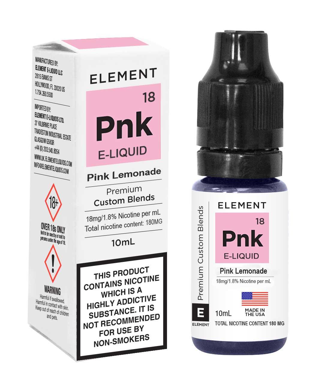 Compare prices for Element E-liquid Pink Lemonade 10ml - 18mg Nicotine