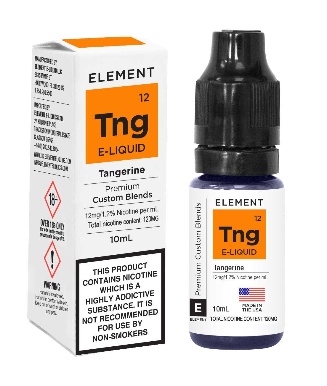 Compare prices for Element E-liquid Tangerine 10ml - 12mg Nicotine