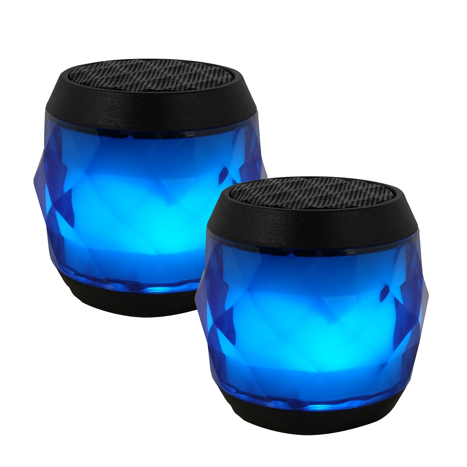 EvoDX BT 4.0 Speaker LED Multi-colour with TWS Feature and Handsfree Mic - Blue - Value Twin Pack