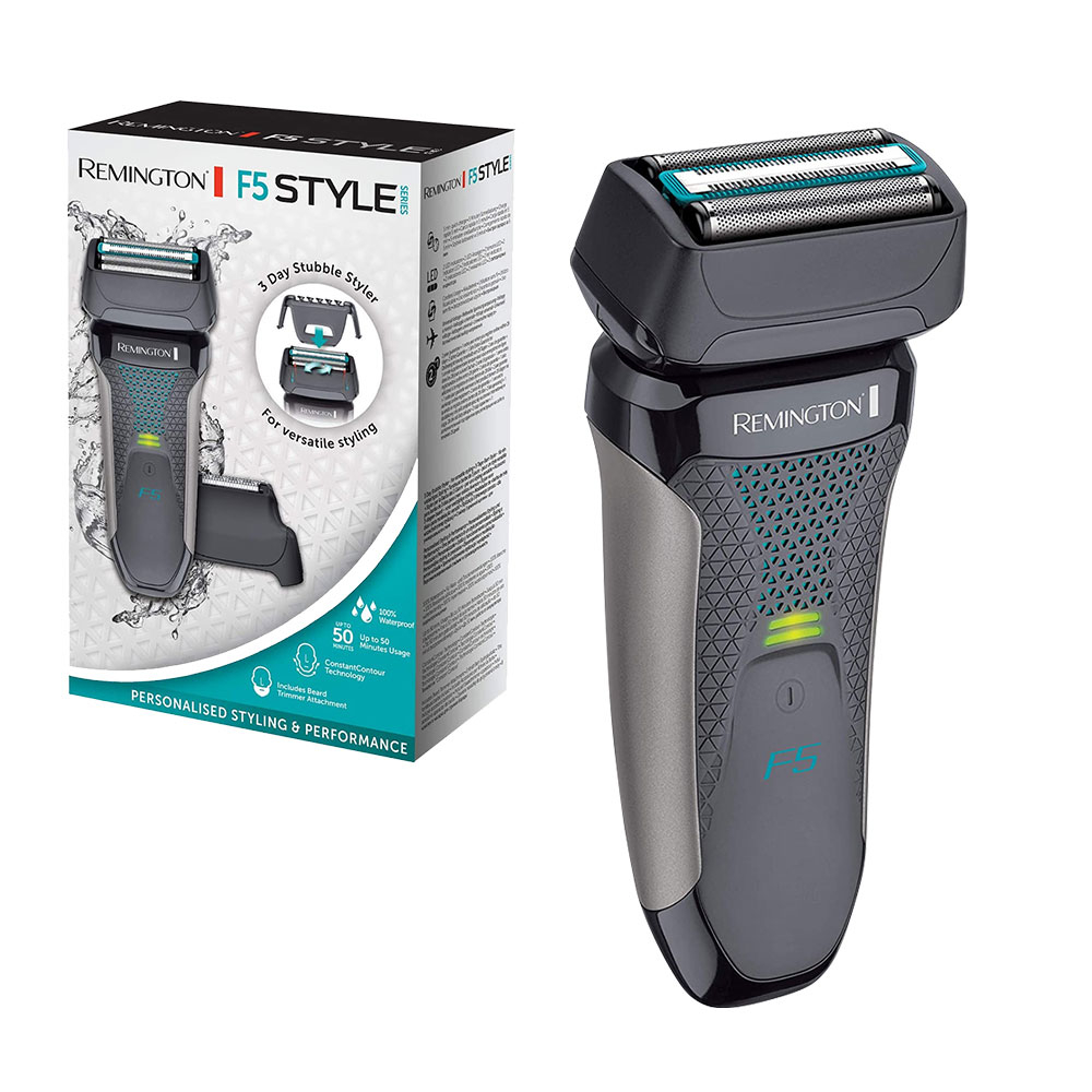Remington F5 Style Series Electric Shaver with Pop Up Trimmer, Beard Trimmer and 3 Day Stubble Style