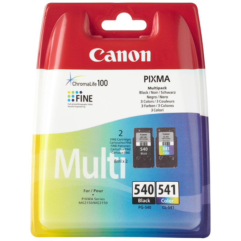 Canon Original PG-540 and CL-541 Combo Pack (8ml x2)