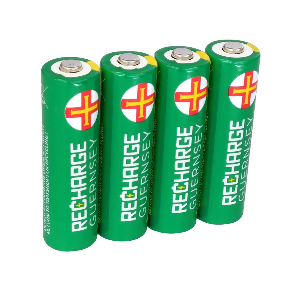 AA Rechargeable Batteries - NiMH Performance with Long Life. Pre-Charged 2000mAh Capacity - 4 Pack
