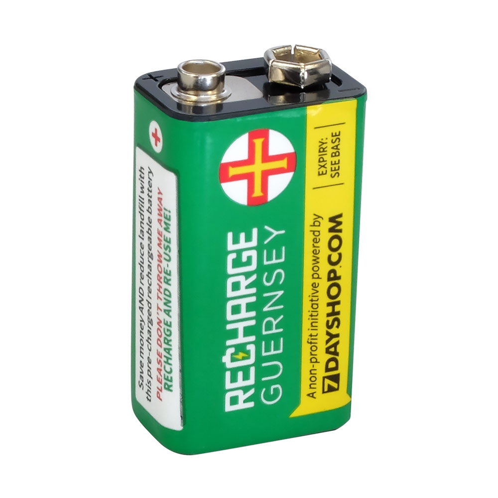 PP3 / 9V Cell High Performance NiMH Rechargeable Battery 160mAh capacity
