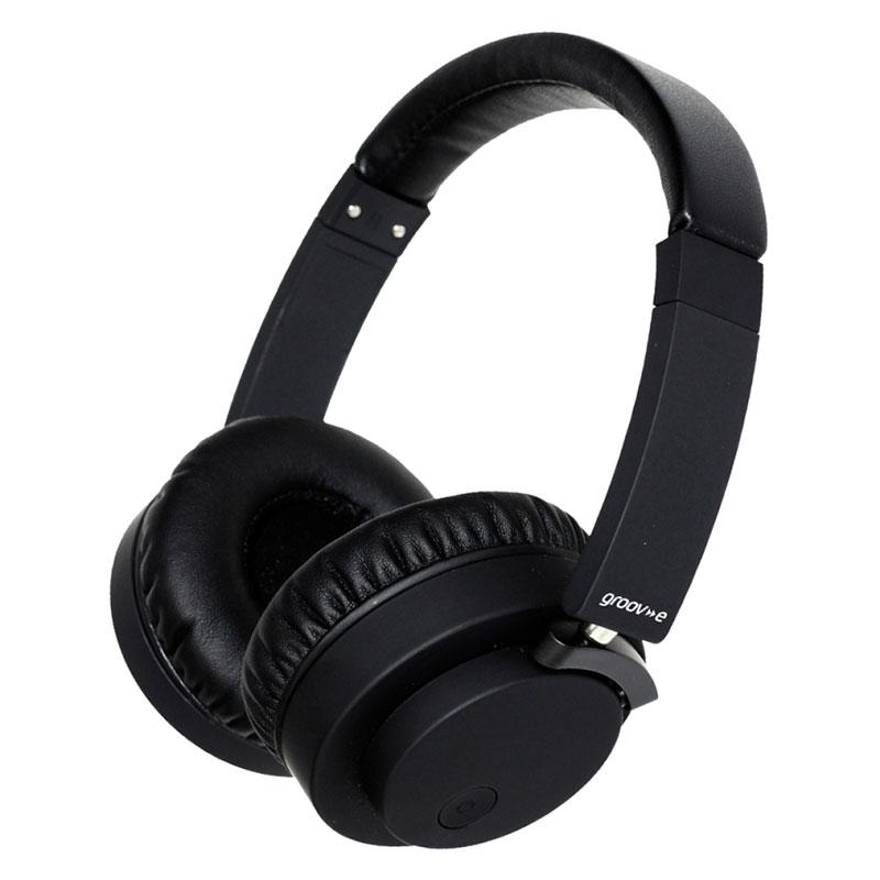 Groov-e Fusion Wireless Bluetooth Headphones with Superior Sound - Black
