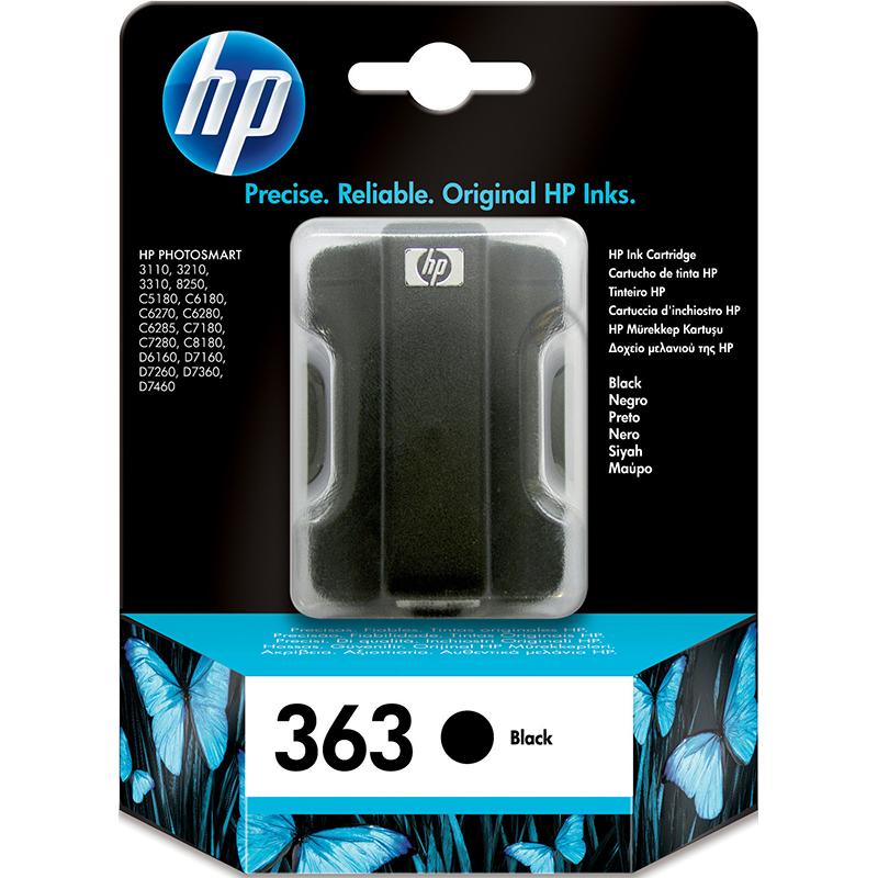 HP 363 Black Ink Cartridge (C8721EE)