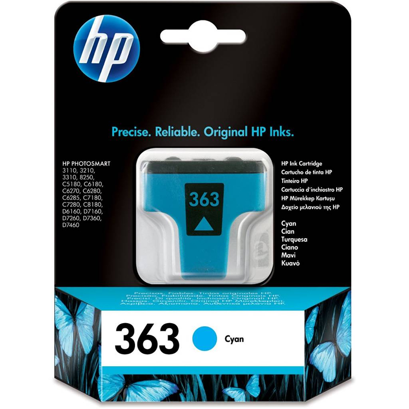 HP 363 Cyan Ink Cartridge (C8771EE)