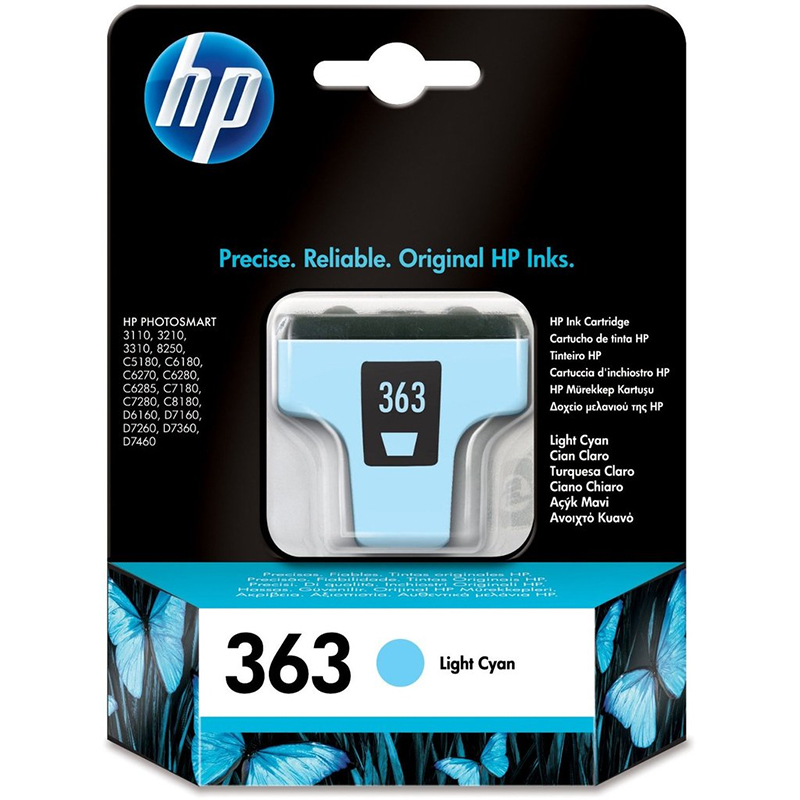 HP 363 Light Cyan Ink Cartridge (C8774EE)