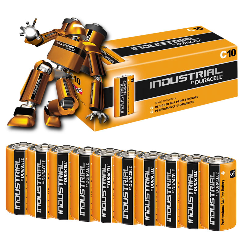 Compare retail prices of Duracell INDUSTRIAL C Cell MN1400 LR14 Alkaline Batteries - Value 10 Pack to get the best deal online