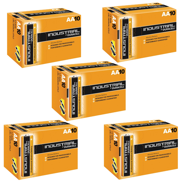 Duracell Industrial AA Batteries 50 Pack