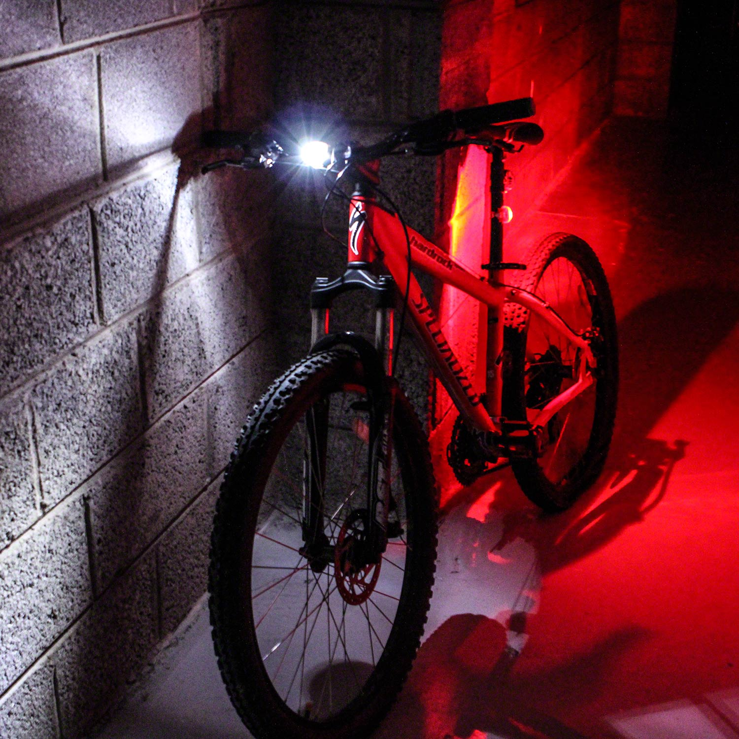 Front Amp Rear Twin Led Bike Cycle Bicycle Light Set