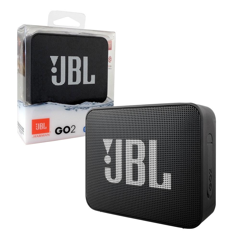 JBL GO 2 Portable Bluetooth Speaker Waterproof    Rechargeable + Handsfree Mic - Black