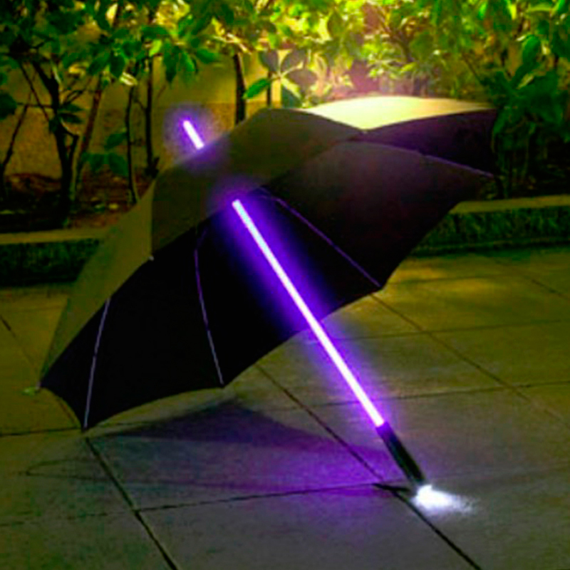 7dayshop Rainbow LED Multi Colour Changing Umbrella with LED Torch in Handle