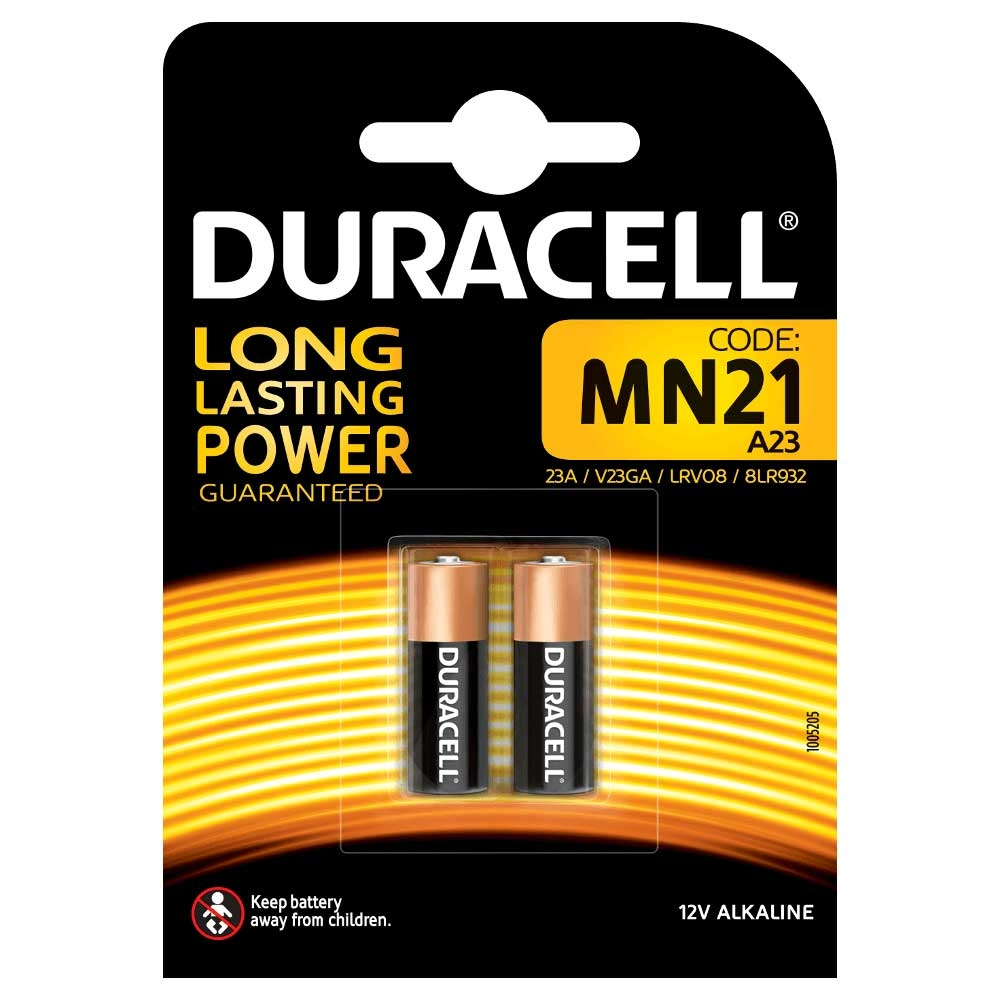 Duracell MN21 A23 23A LRV08 Security 12V Alkaline Battery - Value 2 Pack