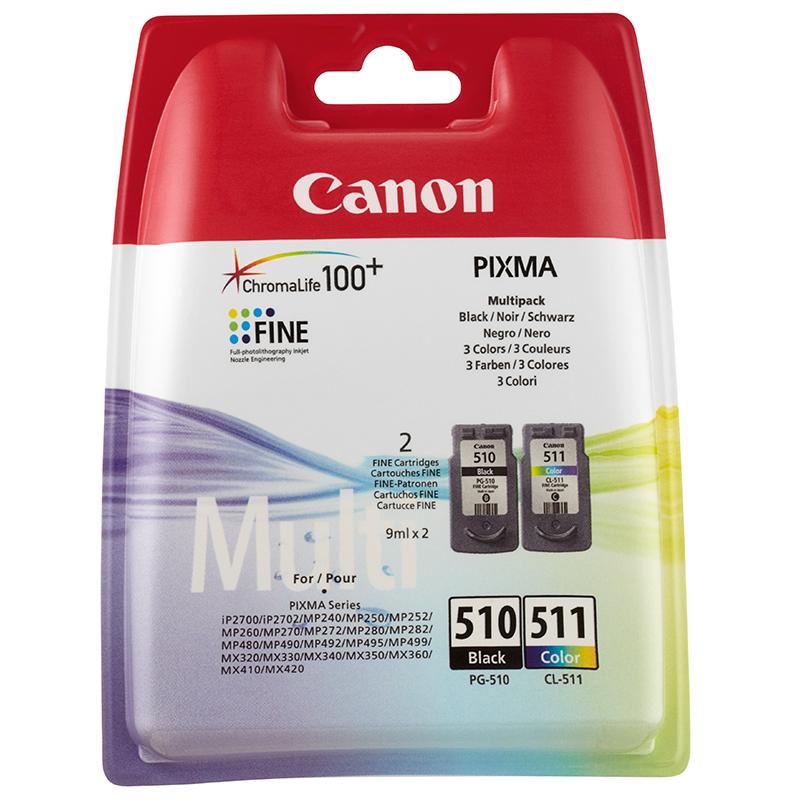 Canon Original PG-510 / CL-511 Combo Pack (9ml x 2)