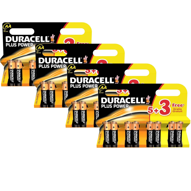 Duracell PLUS POWER AA (LR6  MN1500) Alkaline Batteries  32 Pack