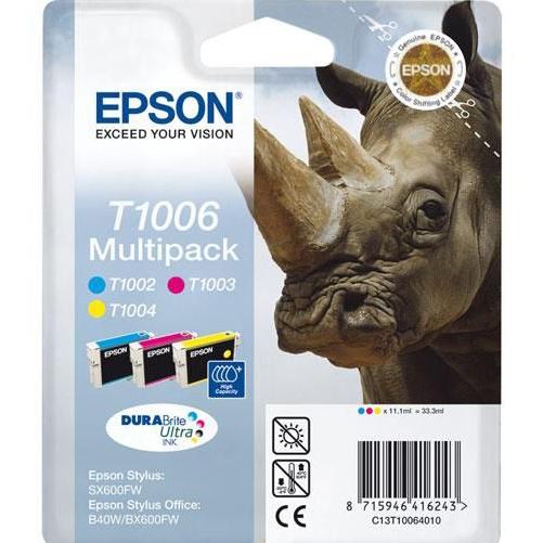 Epson Original T1006 Rhino 33.3ml Extra Value 3 Cartridge Multipack