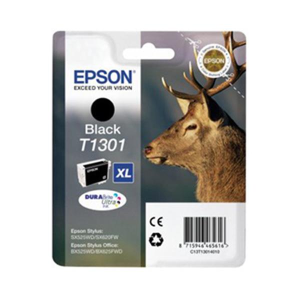 Epson Original T1301 Stag Ink Cartridge 25.4ml Black