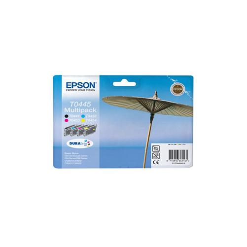 Epson Original T0445 Parasol 40ml Extra Value 4 Colour Multipack