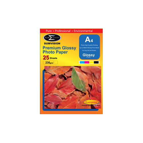 Sumvision 230g A4 Premium Glossy Photo Paper (25 Sheets) lowest price