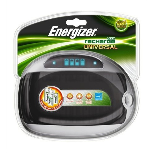 Energizer ACCU Recharge Universal AA AAA C D 9v Battery Charger