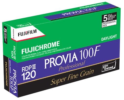 Fuji Provia 100F Professional - RDP III 120 Roll - Colour Reversal Slide Film - 5 PACK - EXPIRED 07.