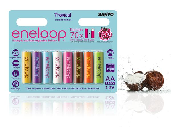 Sanyo Eneloop Tropical Edition AA 8 Pack