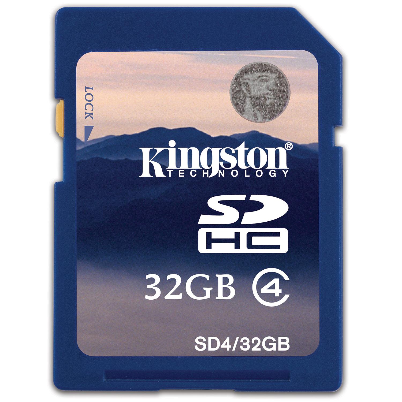 Kingston SDHC Memory Card  32GB  Class 4