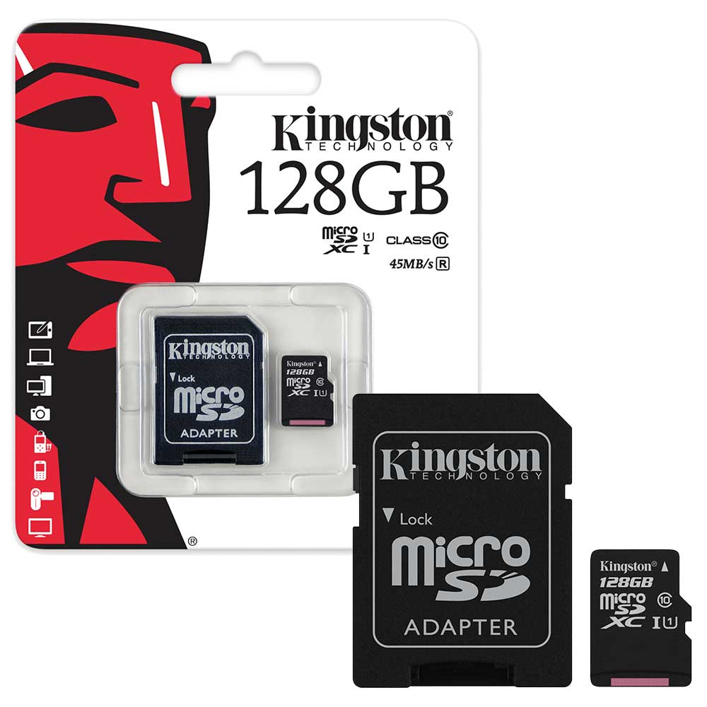128gb kingston micro sd sdxc memory card class 10 45mb s with sd adapter 128gb ebay. Black Bedroom Furniture Sets. Home Design Ideas
