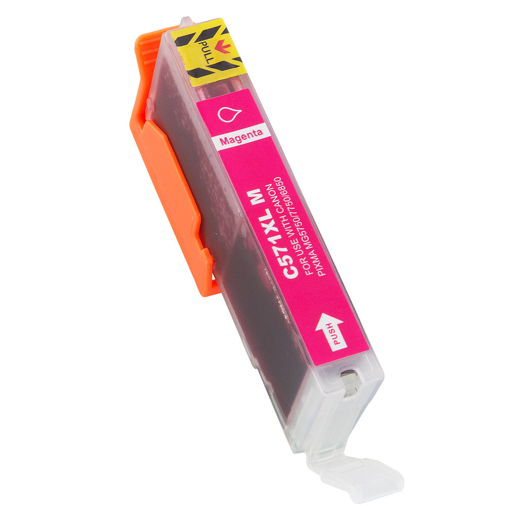 Non-OEM CLI-571XL Magenta Ink Cartridge for Canon 12.2ml